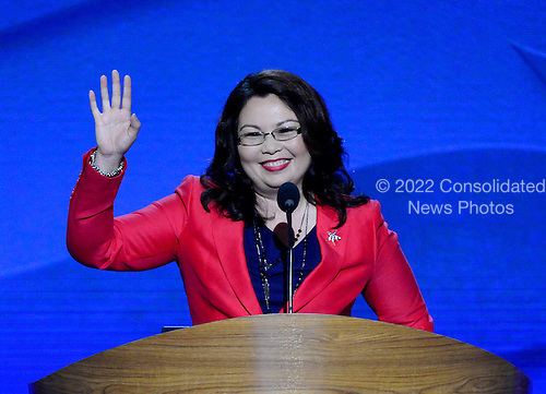 Tammy Duckworth, former Assistant Secretary of the United States Department of Veterans Affairs and candidate for the U.S. House of Representatives from Illinois, makes remarks at the 2012 Democratic National Convention in Charlotte, North Carolina on Tuesday, September 4, 2012.  .Credit: Ron Sachs / CNP.(RESTRICTION: NO New York or New Jersey Newspapers or newspapers within a 75 mile radius of New York City)