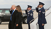 President-elect of The United States Donald J. Trump and First Lady-elect Melania Trump arrive Joint Base Andrews in Maryland January 19, 2017the day before his swearing in as 45th President of The United States. <br /> Credit: Chris Kleponis / Pool via CNP