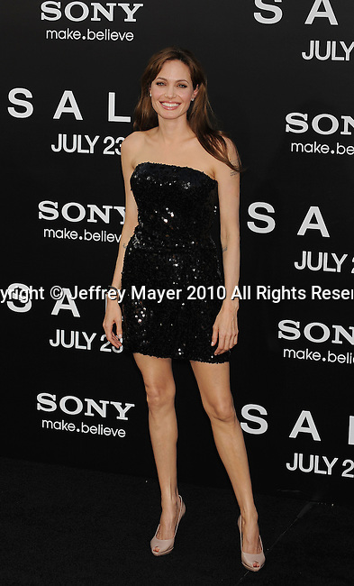 "LOS ANGELES, CA. - July 19: Angelina Jolie arrives at the ""Salt"" Los Angeles Premiere at Grauman's Chinese Theatre on July 19, 2010 in Hollywood, California."