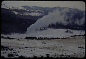 A D&amp;RGW K-36 leading a string of tank cars down Cumbres Pass.<br /> D&amp;RGW  e. of Chama, NM  Taken by Gildersleeve, Thomas H.