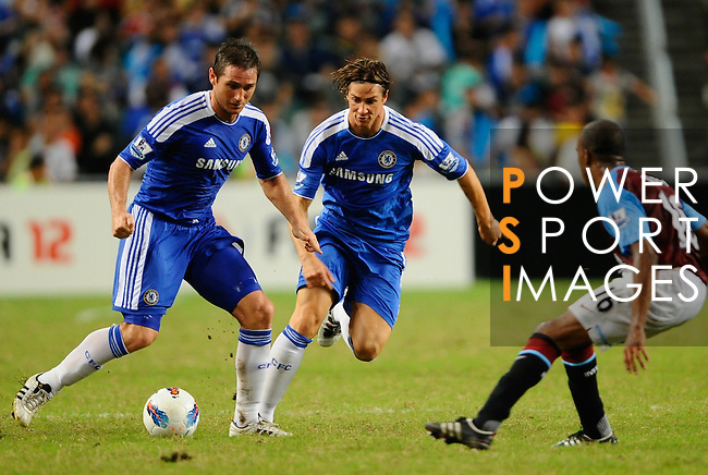 SO KON PO, HONG KONG - JULY 30: Frank Lampard and Fernando Torres of Chelsea in action during the Asia Trophy Final match against Aston Villa at the Hong Kong Stadium on July 30, 2011 in So Kon Po, Hong Kong.  Photo by Victor Fraile / The Power of Sport Images