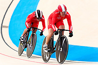 Picture by Alex Whitehead/SWpix.com - 10/12/2017 - Cycling - UCI Track Cycling World Cup Santiago - Velódromo de Peñalolén, Santiago, Chile - China's Chaorui Song and Mengqi Tang compete in the Women's Team Sprint qualifying.