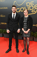 2018207 – BRUSSELS ,  BELGIUM : Davinia Vanmechelen and her brother pictured during the  64nd men edition of the Golden Shoe award ceremony and 2nd Women's edition, Wednesday 7 February 2018, in Brussels Heyzel Palace 12. The Golden Shoe (Gouden Schoen / Soulier d'Or) is an award for the best soccer player of the Belgian Jupiler Pro League championship during the year 2017. The female edition is a second in Belgium.  PHOTO DIRK VUYLSTEKE | Sportpix.be