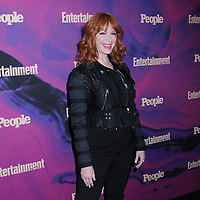 13 May 2019 - New York, New York - Christina Hendricks at the Entertainment Weekly & People New York Upfronts Celebration at Union Park in Flat Iron. Photo Credit: LJ Fotos/AdMedia