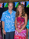 "CATHERINE, DUCHESS OF CAMBRIDGE AND PRINCE WILLIAM.William and Kate attended a reception and dinner hosted by the Governor General at his residence.The couple wore Island Print design shirt and dress respctively_16/09/2012.Mandatory credit photo: ©Rooke/DIASIMAGES..""NO UK USE FOR 28 DAYS"" ..(Failure to credit will incur a surcharge of 100% of reproduction fees)..                **ALL FEES PAYABLE TO: ""NEWSPIX INTERNATIONAL""**..IMMEDIATE CONFIRMATION OF USAGE REQUIRED:.DiasImages, 31a Chinnery Hill, Bishop's Stortford, ENGLAND CM23 3PS.Tel:+441279 324672  ; Fax: +441279656877.Mobile:  07775681153.e-mail: info@newspixinternational.co.uk"