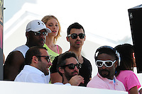 MIAMI BEACH, FL - MARCH 14: Elsa Hosk, Joe Jonas and DJ Irie attends Victorias Secret Pink Nation Hosts Spring Break at The Shelborne on March 14, 2012 in Miami Beach, Florida. (photo by: MPI10/MediaPunch Inc.)