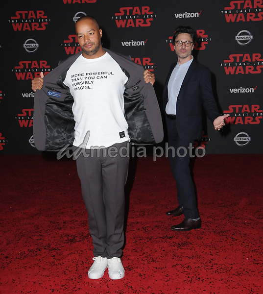 "09 December  2017 - Los Angeles, California - Donald Faison, Zach Braff. Premiere Of Disney Pictures And Lucasfilm's ""Star Wars: The Last Jedi"" held at The Shrine Auditorium  in Los Angeles Photo Credit: Birdie Thompson/AdMedia"