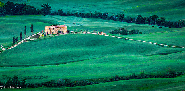 An estate in the Val d' Orcia, in Tuscany, Italy.