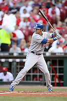 June 18, 2008:  Los Angeles Dodgers right fielder Andre Ethier (16) at The Great American Ballpark in Cincinnati, OH.  Photo by:  Chris Proctor/Four Seam Images