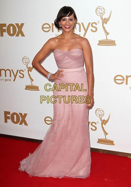 Rashida Jones.63rd Primetime Emmy Awards - Arrivals Held at The Nokia LA Live, Los Angeles, California, USA..September 18th, 2011.emmys full length pink dress hand on hip strapless.CAP/ADM/KB.©Kevan Brooks/AdMedia/Capital Pictures.