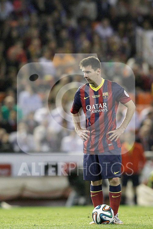 FC Barcelona's Leo Messi during spanish KIng's Cup Final match.April 16,2014. (ALTERPHOTOS/Acero)