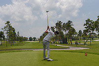 Parathakorn SUYASRI (THA) watches his tee shot on 16 during Rd 1 of the Asia-Pacific Amateur Championship, Sentosa Golf Club, Singapore. 10/4/2018.<br /> Picture: Golffile | Ken Murray<br /> <br /> <br /> All photo usage must carry mandatory copyright credit (&copy; Golffile | Ken Murray)