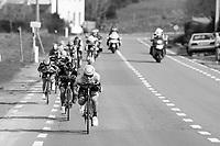 Alexey Lutsenko (KAZ/Astana) speeding ahead in the breakaway group<br /> <br /> 72nd Dwars Door Vlaanderen (1.UWT)<br /> 1day race: Roeselare &rsaquo; Waregem BEL (203.4km)
