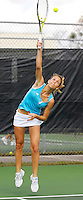 Florida International University junior Marijana Cutuk serves during one of her matches on the final day of the FIU Spring Invitational, January 19-21, 2007 at Miami, Florida.  Cutuk and her doubles partner Freshman Priscilla Castillo fell to the University of South Florida's doubles pairing of Iciri Rai and Liz Cruz, 8-6.  Later in the day, the University of Miami's Caren Seenauth defeated Cutuk in singles play, 7-5, 6-2..