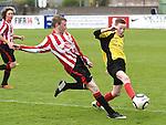 Drogheda Town Luke O'Driscoll Walshestown Brian Reilly. Photo:Colin Bell/pressphotos.ie