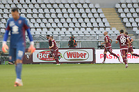 16th July 2020; Olympic Grande Torino Stadium, Turin, Piedmont, Italy; Serie A Football, Torino versus Genoa; Gleison Bremer of Torino FC celebrates after scoring the goal for 1-0 in the 31st minute