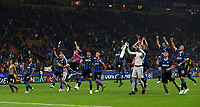Football Soccer: UEFA Champions League -Group Stage- Group F Internazionale Milano vs Borussia Dortmund, Giuseppe Meazza stadium, October 23, 2019.<br /> Inter's players celebrate after winning 2-0 the Uefa Champions League football match between Internazionale Milano and Borussia Dortmund at Giuseppe Meazza (San Siro) stadium, on October 23, 2019.<br /> UPDATE IMAGES PRESS/Isabella Bonotto