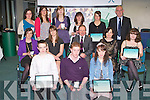 AWARDS: The students of Colaiste Na Sceilge at the Kerry Education Student Awards at IT Tralee on Friday..