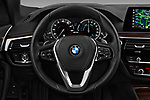 Car pictures of steering wheel view of a 2018 BMW 5 Series 530e iPerformance 4 Door Sedan