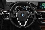 Car pictures of steering wheel view of a 2018 BMW 5 Series 530e iPerformance 4 Door Sedan