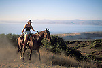 Horseback riding at Montana del Oro State Park, above Morro Bay, California