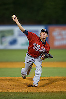 Elizabethton Twins relief pitcher C.K. Irby (17) in action against the Kingsport Mets at Hunter Wright Stadium on July 9, 2015 in Kingsport, Tennessee.  The Twins defeated the Mets 9-7 in 11 innings. (Brian Westerholt/Four Seam Images)