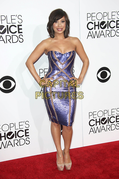 LOS ANGELES, CA - JANUARY 8: Cheryl Burke at the 40th Annual People's Choice Awards at the Nokia Theatre in Los Angeles,California on January 8, 2014. <br /> CAP/MPI/JO<br /> &copy;Janice Ogata/MPI/Capital Pictures