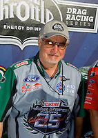 Sept. 6, 2010; Clermont, IN, USA; NHRA funny car crew chief Bernie Fedderly during the U.S. Nationals at O'Reilly Raceway Park at Indianapolis. Mandatory Credit: Mark J. Rebilas-