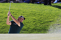 Phil Mickelson (USA) chips from a bunker at the 6th green during Saturday's Round 3 of the Waste Management Phoenix Open 2018 held on the TPC Scottsdale Stadium Course, Scottsdale, Arizona, USA. 3rd February 2018.<br /> Picture: Eoin Clarke | Golffile<br /> <br /> <br /> All photos usage must carry mandatory copyright credit (&copy; Golffile | Eoin Clarke)