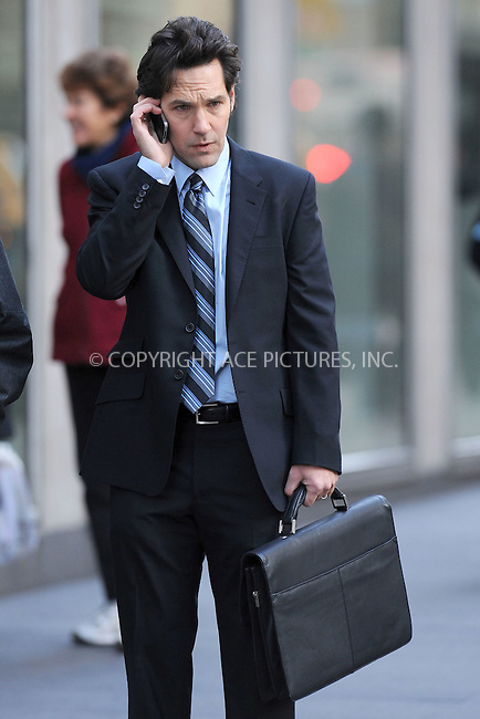 WWW.ACEPIXS.COM . . . . . .November 19, 2010...New York City...Actor Paul Rudd filming Wanderlust on November 19, 2010  in New York City....Please byline: KRISTIN CALLAHAN - ACEPIXS.COM.. . .Ace Pictures, Inc: ..tel: (212) 243 8787 or (646) 769 0430..e-mail: info@acepixs.com..web: http://www.acepixs.com .