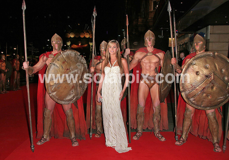 **ALL ROUND PICTURES FROM SOLARPIX.COM**.**WORLDWIDE SYNDICATION RIGHTS**.Danielle Lloyd attends the UK premiere of 300 at Vue, Leicester Square, London on 15.03.07..JOB REF:  3532     SSD     DATE: 15.03.07.**MUST CREDIT SOLARPIX.COM OR DOUBLE FEE WILL BE CHARGED* *UNDER NO CIRCUMSTANCES IS THIS IMAGE TO BE REPRODUCED FOR ANY ONLINE EDITION WITHOUT PRIOR PERMISSION*