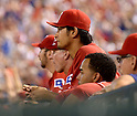 Yu Darvish (Rangers),<br /> SEPTEMBER 30, 2013 - MLB : Yu Darvish of the Texas Rangers looks on from the dugout during the MLB baseball American League wild-card tiebreaker baseball game against the Tampa Bay Rays at Rangers Ballpark in Arlington, TX, United States.<br /> (Photo by AFLO)
