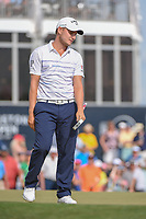 Emiliano Grillo (ARG) reacts to his putt on 18 during round 4 of the Houston Open, Golf Club of Houston, Houston, Texas. 4/1/2018.<br /> Picture: Golffile | Ken Murray<br /> <br /> <br /> All photo usage must carry mandatory copyright credit (&copy; Golffile | Ken Murray)