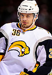 14 December 2009: Buffalo Sabres' right wing forward Patrick Kaleta warms up prior to facing the Montreal Canadiens at the Bell Centre in Montreal, Quebec, Canada. The Sabres defeated the Canadiens 4-3. Mandatory Credit: Ed Wolfstein Photo
