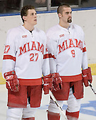 Taylor Hustead, Joe Cooper - The Boston College Eagles defeated the Miami University Redhawks 5-0 in their Northeast Regional Semi-Final matchup on Friday, March 24, 2006, at the DCU Center in Worcester, MA.