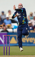 Durham's Chris Rushworth <br /> <br /> Photographer Andrew Kearns/CameraSport<br /> <br /> Royal London One Day Cup - Northamptonshire v Durham - Sunday 27th May 2018 - The County Ground, Northampton<br /> <br /> World Copyright &copy; 2018 CameraSport. All rights reserved. 43 Linden Ave. Countesthorpe. Leicester. England. LE8 5PG - Tel: +44 (0) 116 277 4147 - admin@camerasport.com - www.camerasport.com
