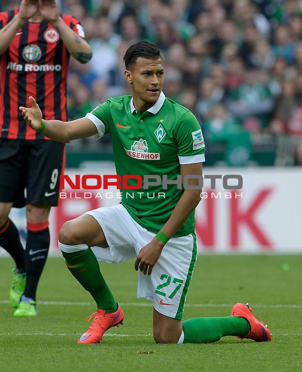 02.05.2015, Weserstadion, Bremen, GER, 1.FBL, Werder Bremen vs Eintracht Frankfurt, im Bild Davie Selke (Bremen #27)<br /> <br /> Foto &copy; nordphoto / Frisch