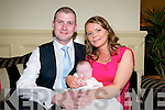 Baby Abbie Marie O'Sullivan with her parents Jordan & Kerry O'Sullivan, Listowel who was christened in St. Mary's Church, Listowel by Cannon Declan O'Connor and afterwards at the Listowel Arms Hotel.