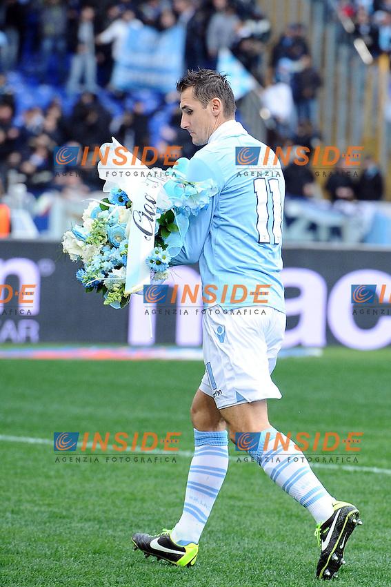 Miroslav Klose  Lazio.13/01/2013 Roma.Stadio Olimpico.Football Calcio 2012 / 2013 .Campionato di Calcio Serie A.Lazio vs Atalanta 2-0.Foto Insidefoto / Antonietta Baldassarre.