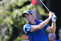 Paul Dunne (IRL) tees off the 11th tee during Sunday's Final Round of the 2018 Turkish Airlines Open hosted by Regnum Carya Golf &amp; Spa Resort, Antalya, Turkey. 4th November 2018.<br /> Picture: Eoin Clarke | Golffile<br /> <br /> <br /> All photos usage must carry mandatory copyright credit (&copy; Golffile | Eoin Clarke)