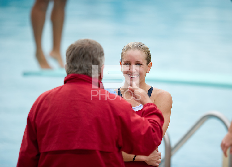 STANFORD, CA - January 28, 2011: Meg Hostage during Stanford's dual meet against UCLA.
