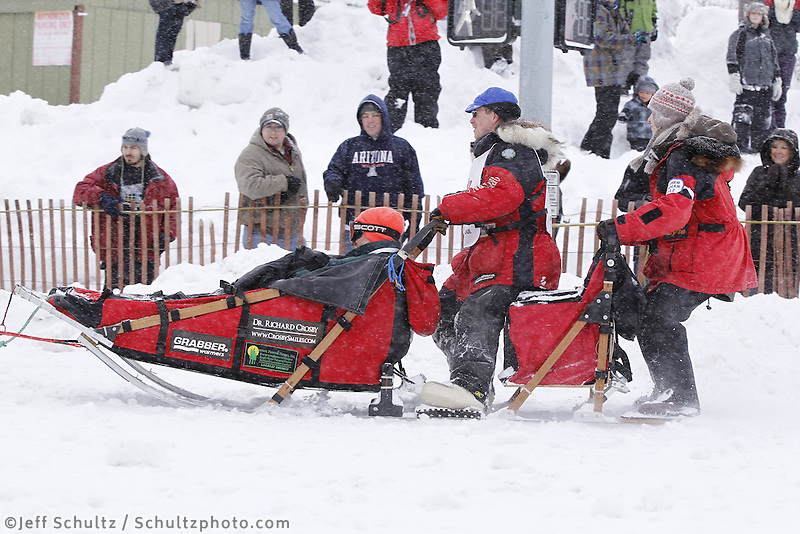 Paul Gebhardt Saturday, March 3, 2012  Ceremonial Start of Iditarod 2012 in Anchorage, Alaska.