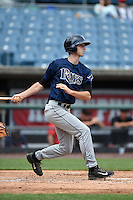 Kyle Tucker (19) of H.B. Plant High School in Tampa, Florida playing for the Tampa Bay Rays scout team during the East Coast Pro Showcase on July 31, 2014 at NBT Bank Stadium in Syracuse, New York.  (Mike Janes/Four Seam Images)
