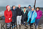 Ready to take the plunge in Fenit on Saturday morning. L to r:  Morna O'Halloran, Noel Ryan, Kevin Williams, Elaine Burrows Dillane, Gerard McDonald, Rose Collins and Marie Hayes.