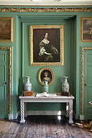 Portrait of a woman of the late 17th century hung in an alcove in the Grenville Room