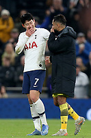 Son Heung-Min of Tottenham Hotspur and Sofiane Boufal of Southampton talk after Tottenham Hotspur vs Southampton, Emirates FA Cup Football at Tottenham Hotspur Stadium on 5th February 2020