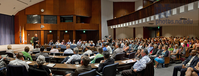 Aug. 20, 2013; Fr. John Jenkins, C.S.C. speaks at the 2013 University Relations Summit<br /> <br /> Photo by Matt Cashore/University of Notre Dame
