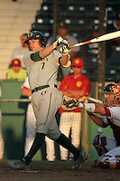 Jack Marder #7 of the Oregon Ducks bats against the USC Trojans at Dedeaux Field in Los Angeles,California on April 15, 2011. Photo by Larry Goren/Four Seam Images