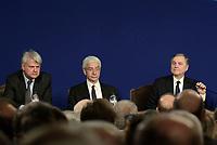 Roma, 29 Maggio 2018<br /> Ignazio Visco;Salvatore Rossi, Luigi Federico Signorini.<br /> Relazione annuale Banca d'Italia