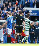 Charlie Mulgrew red carded by referee Craig Thomsom